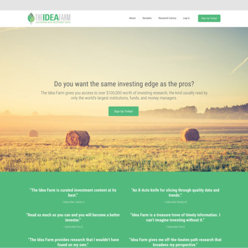 The Idea Farm by Meb Faber